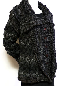 Images of Double Lapel Sweater Chunky Knit Pattern