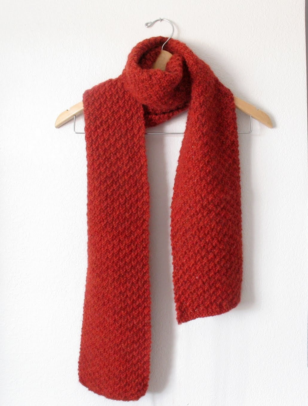 Double Seed Stitch Scarf Pattern