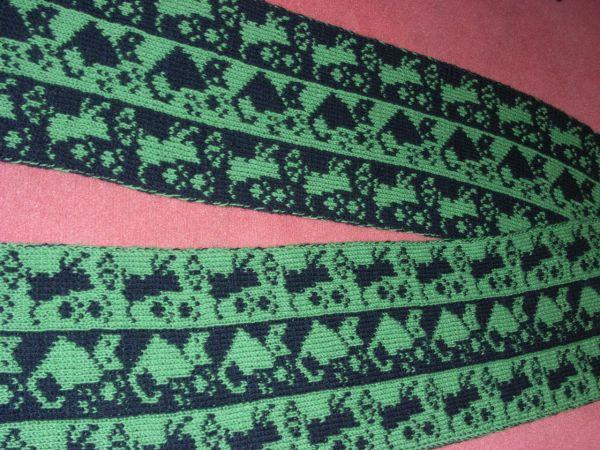 Double knitting Cats Scarf Pattern