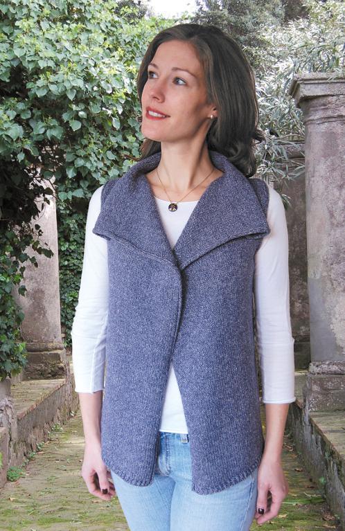 Drape Front Vest to Knit Pattern