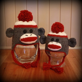 Ear Flap Sock Monkey Hat Knitting Pattern Images