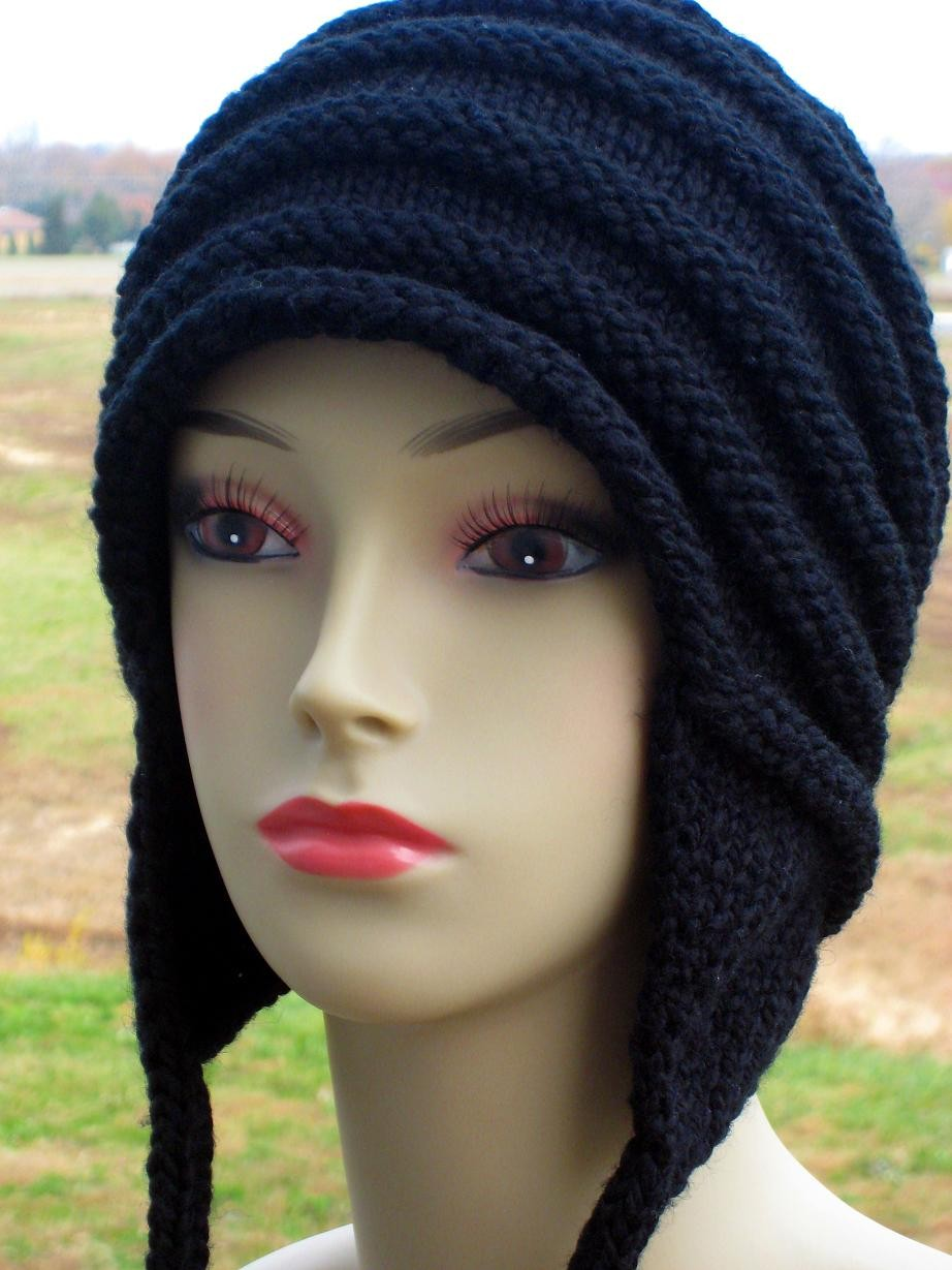 Pictures of Earflap Knitting Hat Pattern Design