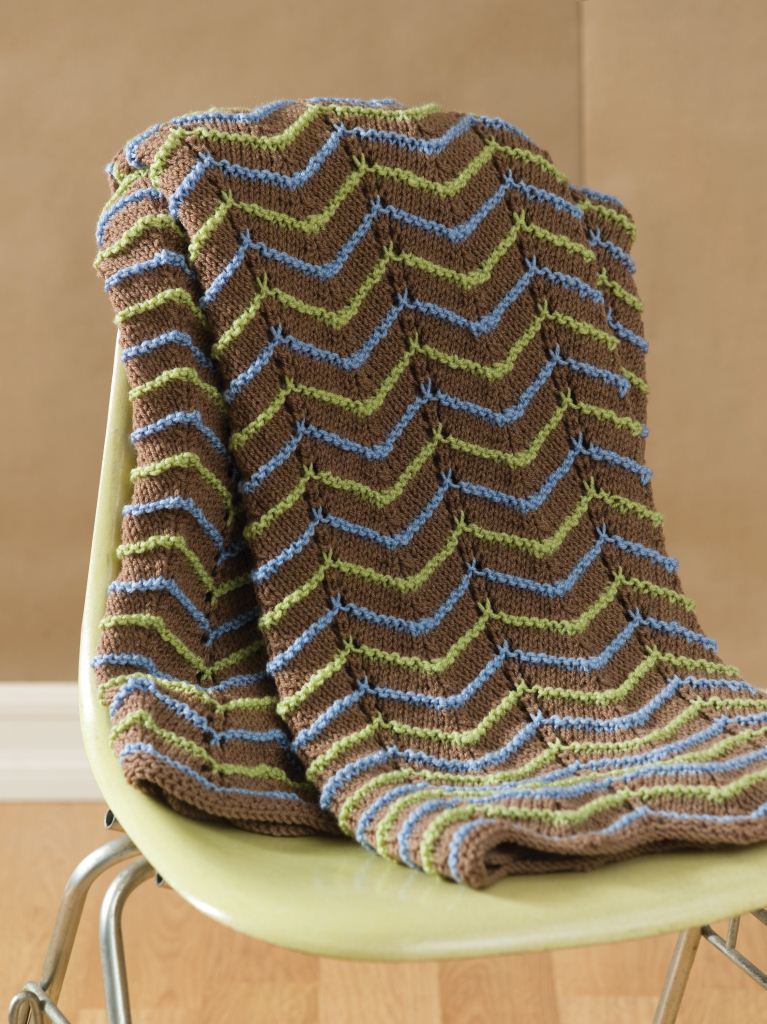 Earth Tone Knitted Afghan Pattern