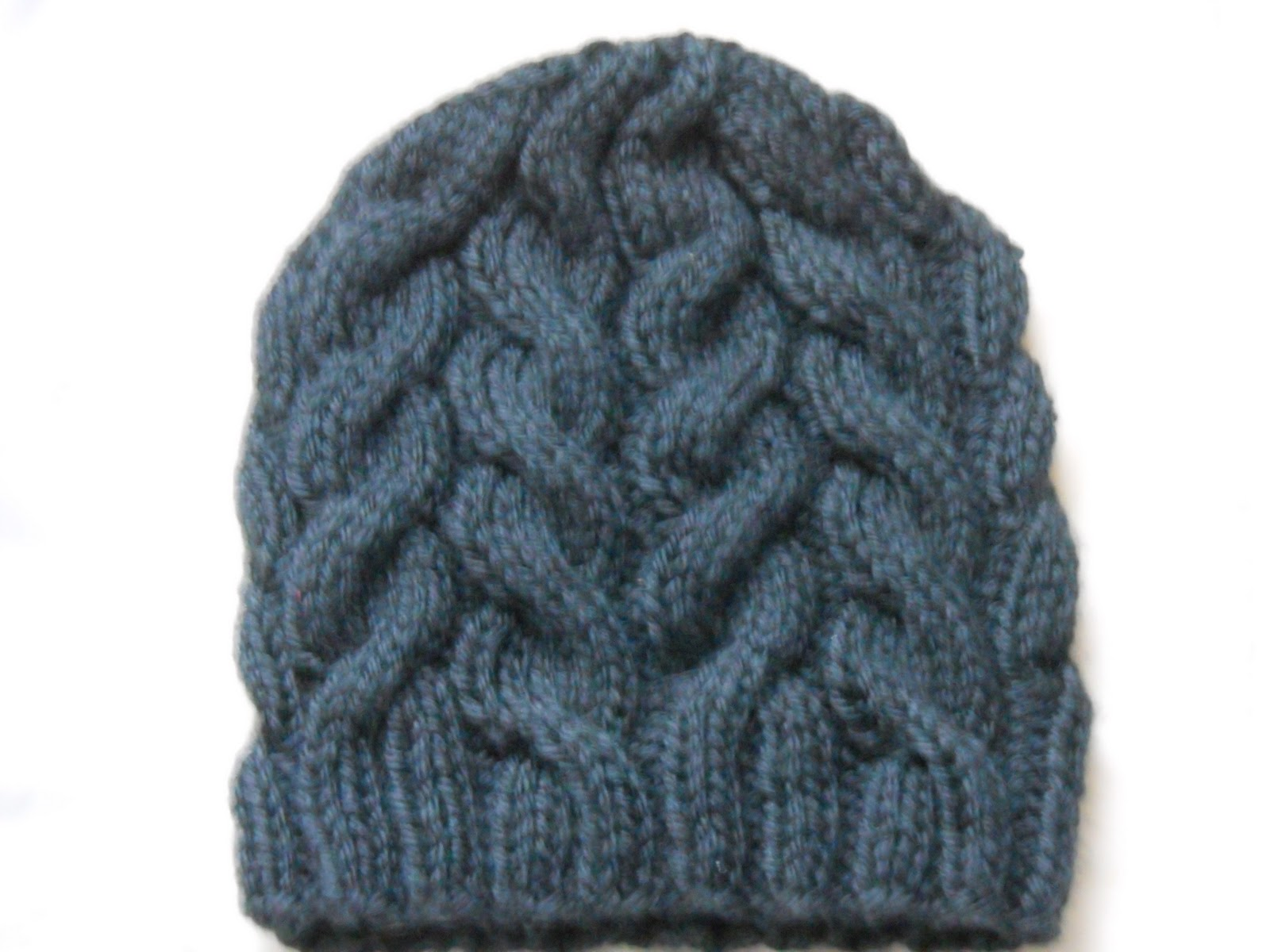 Easy Cable Knit Hat Pattern
