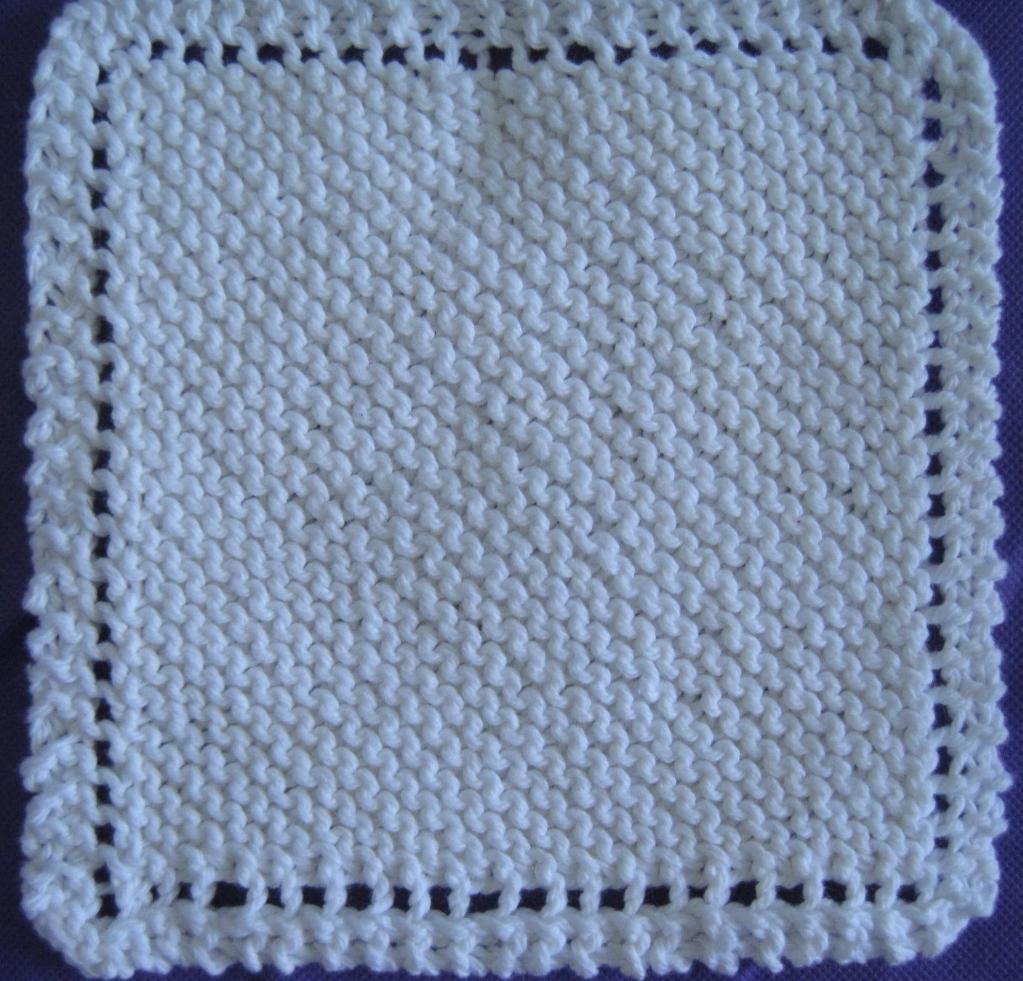 Easy Dishcloth Knitting Pattern