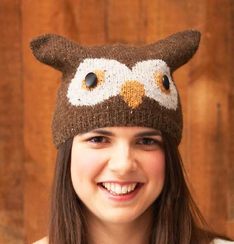 Easy Knitting Owl Hat Pattern