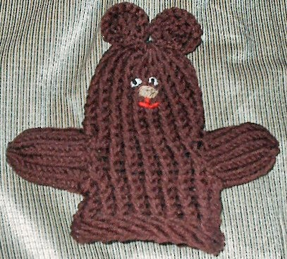 Easy Loom Mitten Puppet Design