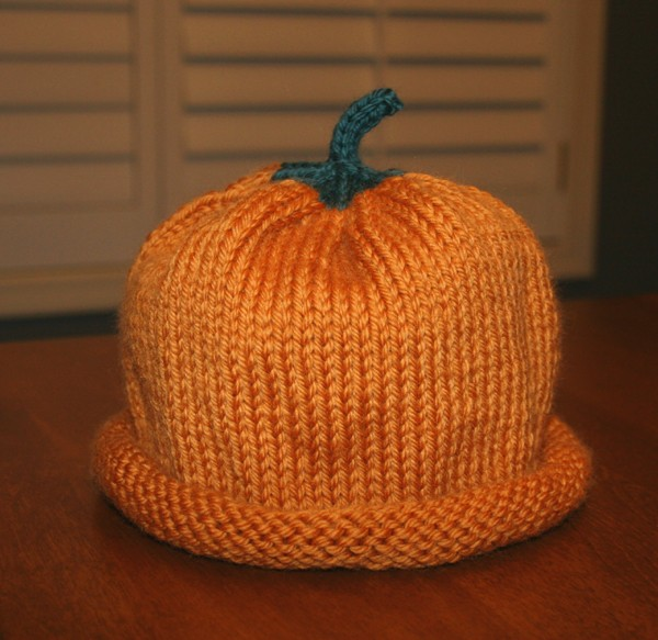 Easy Pumpkin Hat Knitting Pattern