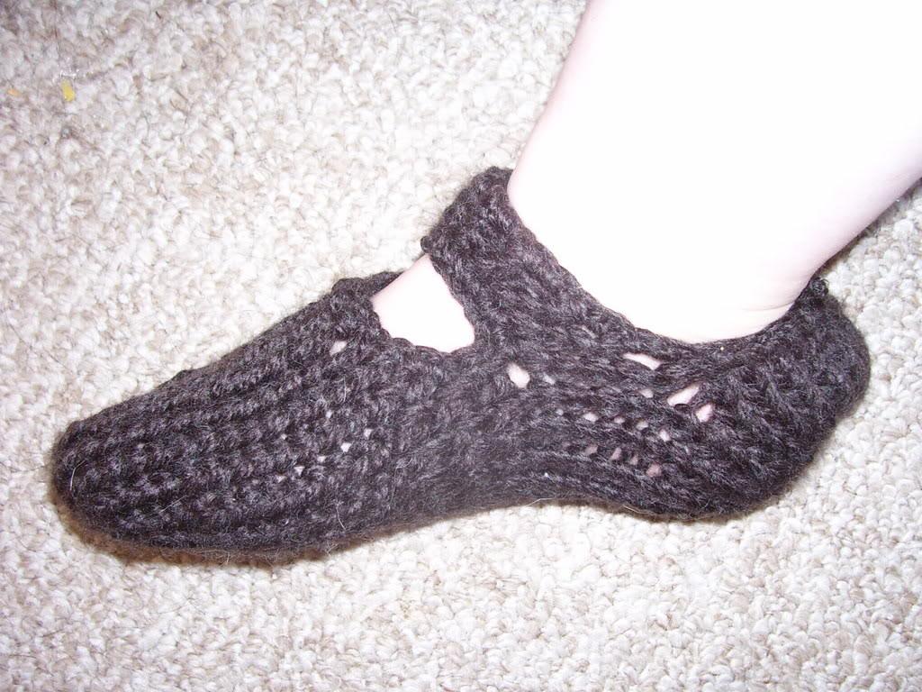 Easy Round Loom Knit Slipper Pattern