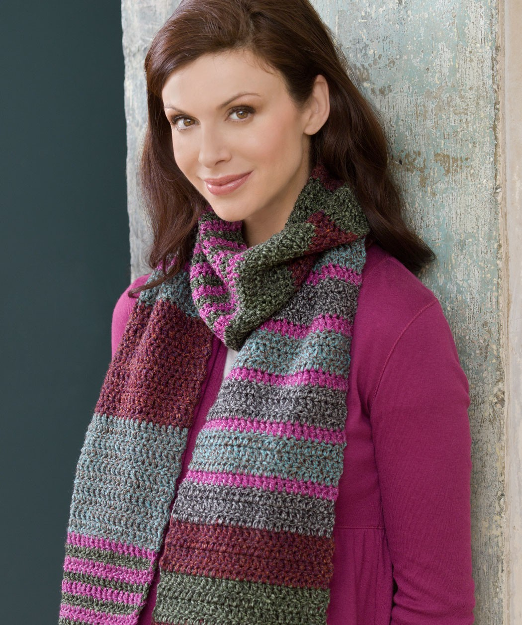 Easy Striped Scarf Knitting Pattern