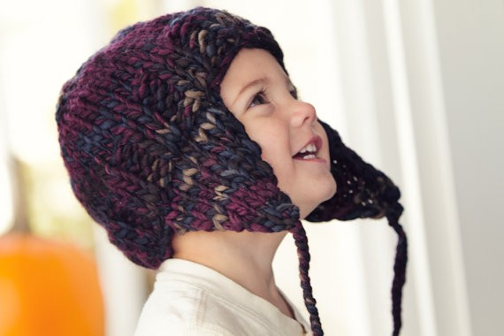 Easy Toddler Earflap Hat Knitting Pattern
