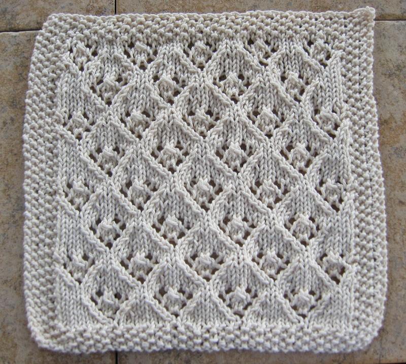 Elfin Lace Dishcloth Knitting Pattern
