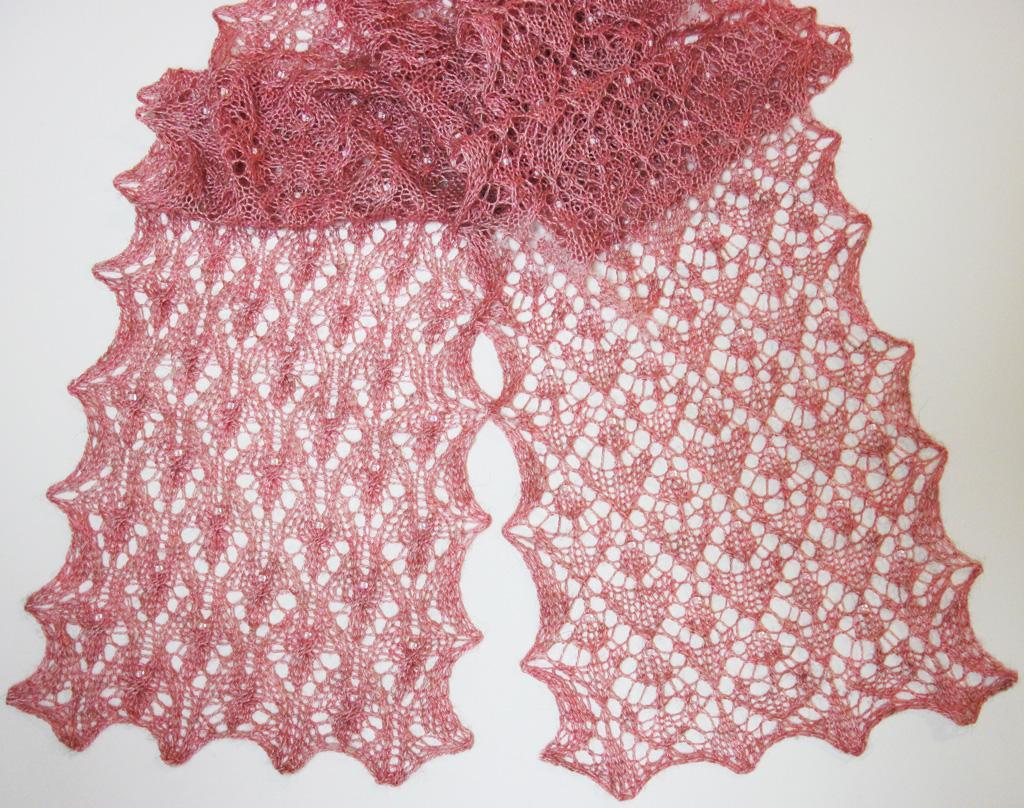 Fairies and Flowers Scarf Knitting Pattern