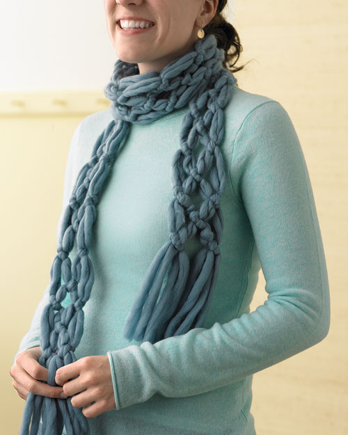 Finger Knitting Scarf Pattern Tutorial