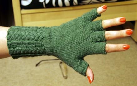 Fingerless Gloves Knit Pattern Tutorial