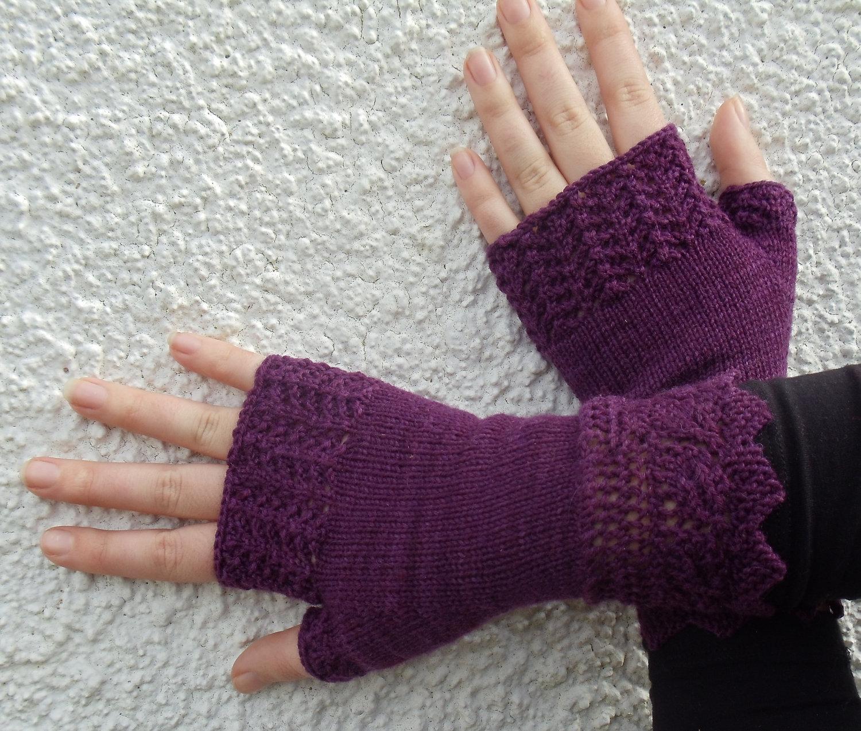 Fingerless Mitten Knit Pattern