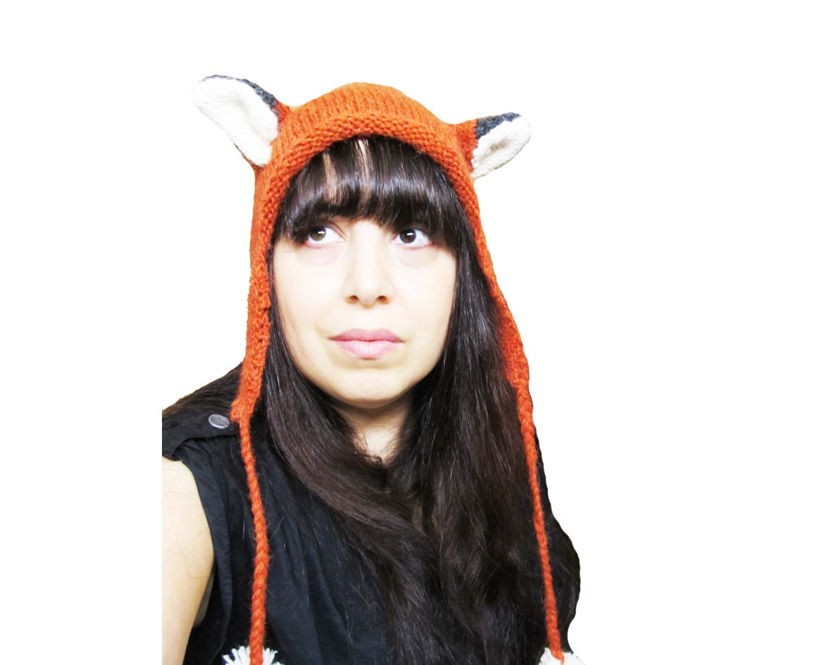 Fox Hat Knitting Pattern