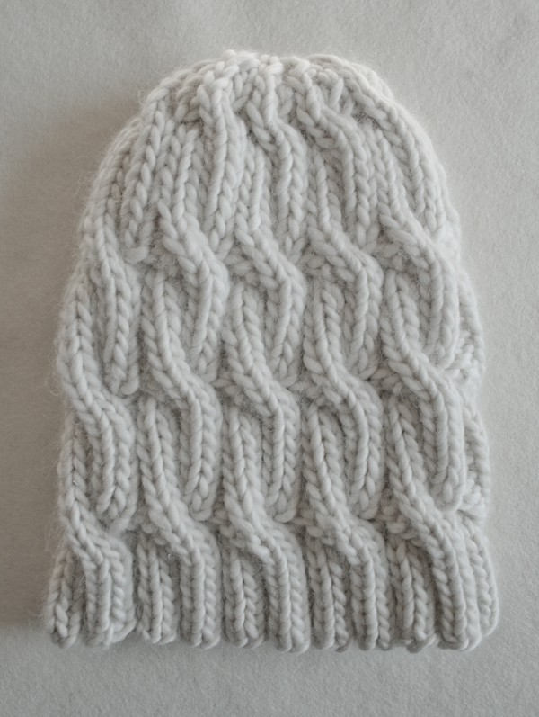 Free Chunky Cable Knit Hat Pattern