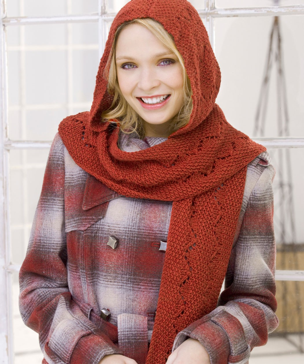 Free Comfy Hooded Scarf Knitting Pattern