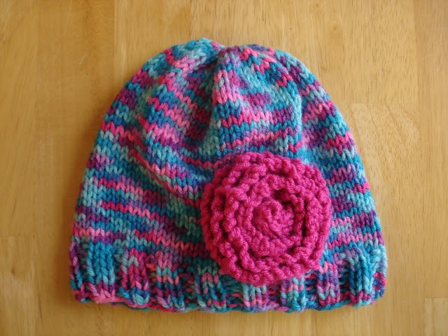Free Cotton Candy Baby Hat Knitting Pattern