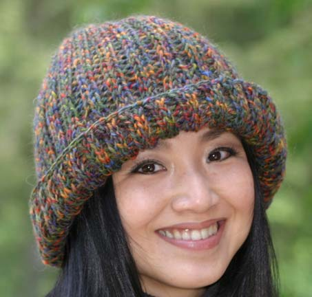 Free Cozy Ribbed Hat Loom Knitting Pattern