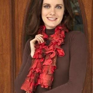 Free Flora Ruffle Knitting Scarf Pattern