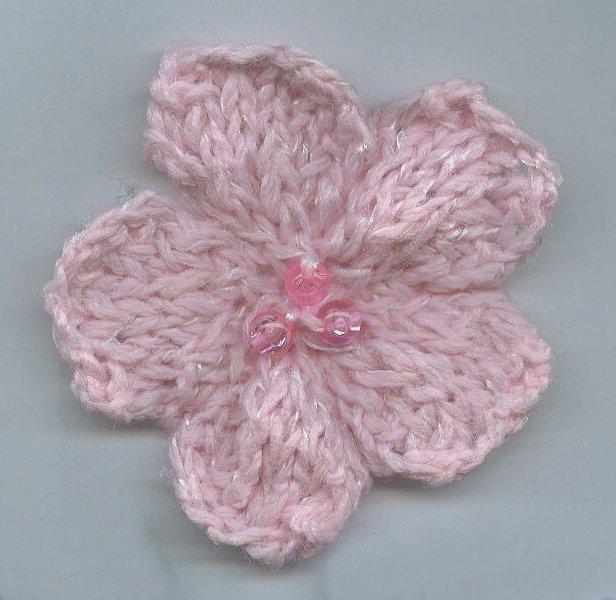 Free Flower Knitting Pattern
