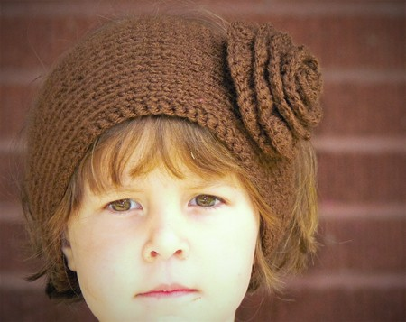 Free Headband With Flower Knitting Pattern