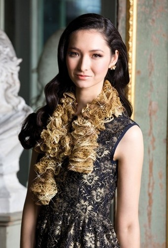 Free Knit Swirls Sashay Scarf Pattern Photos