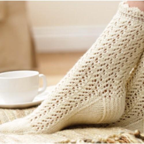 Free Lace Socks Knit Pattern