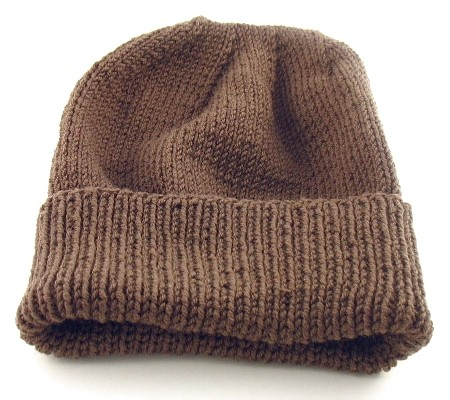 Free Men's Hat Knit Pattern Instruction