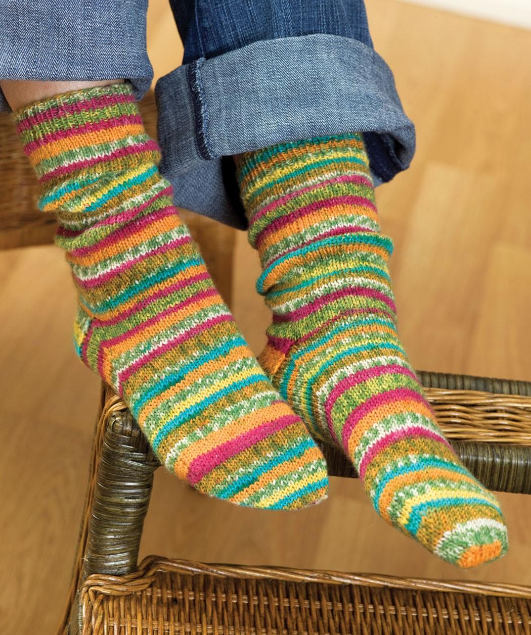 Free Self Striping Sock Knitting Pattern