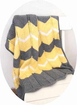 Free Striped Chevron Baby Blanket Knitting Pattern