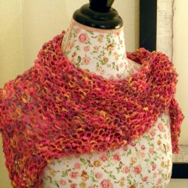 Free Triangle Scarf Knitting Pattern Tutorial
