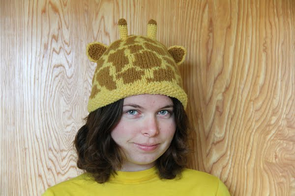 Giraffe Hat Knitting Pattern Design