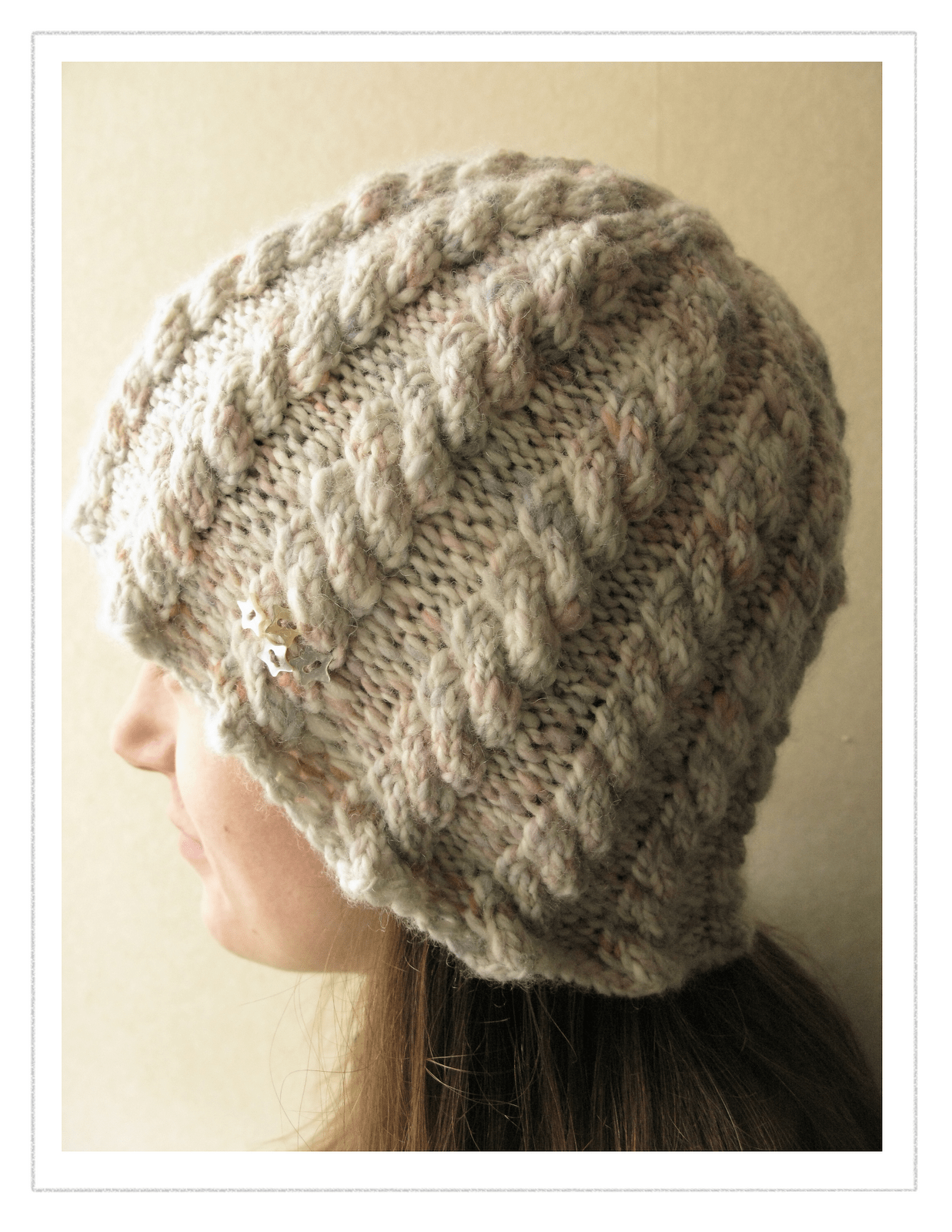 Handspun Star Hat Cable Knitting Pattern