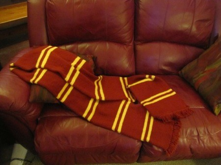 Harry Potter Gryffindor Scarf Knitting Pattern