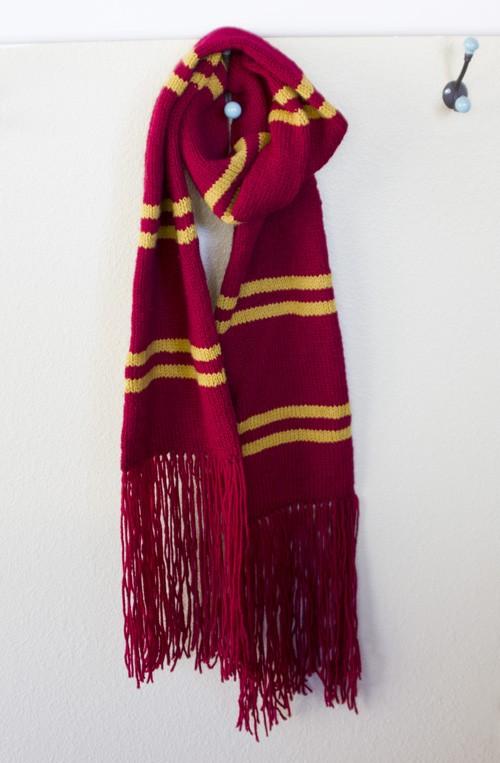 Harry Potter Scarf Knitting Pattern Tutorial