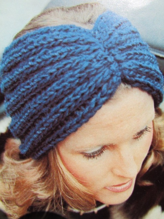 Headband Ear Warmer Knitting Pattern Instruction
