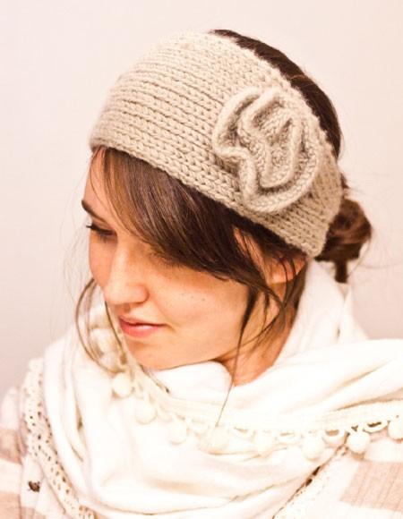 Headband Knitting Pattern with Flower