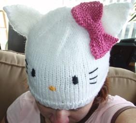 Hello Kitty Hat Knitting Pattern