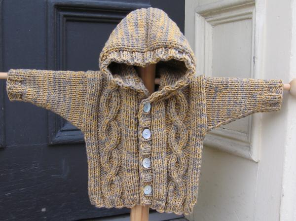 Hooded Cable Knit Sweater pattern