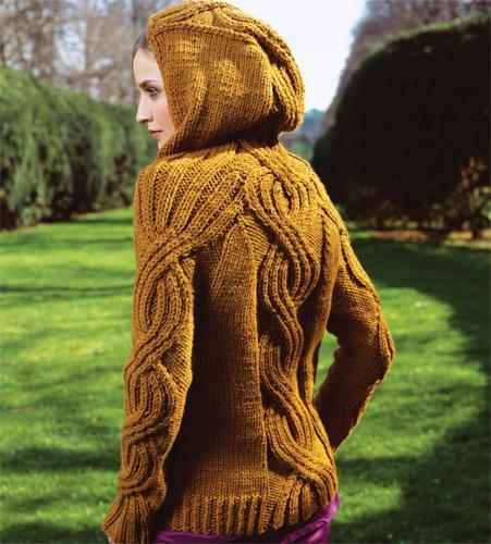 Hooded Pullover Knitting Pattern