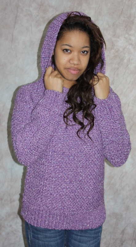 Hooded Sweater Knitting Pattern