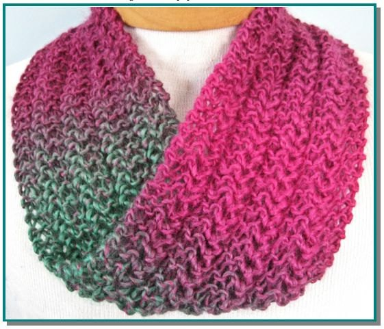 Infinity Scarf Lace Knitting Pattern