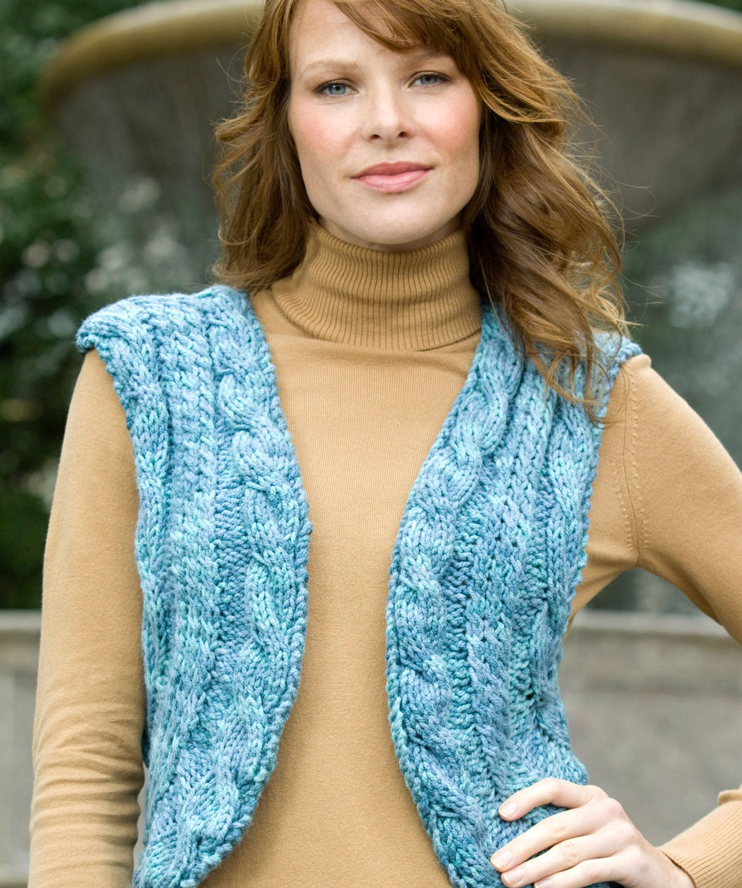 Knit Cabled Vest Sweater Pattern