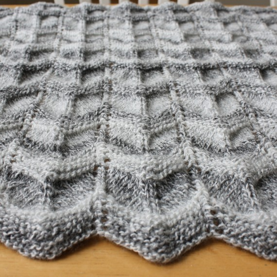 Knit Chevron Baby Blanket Pattern