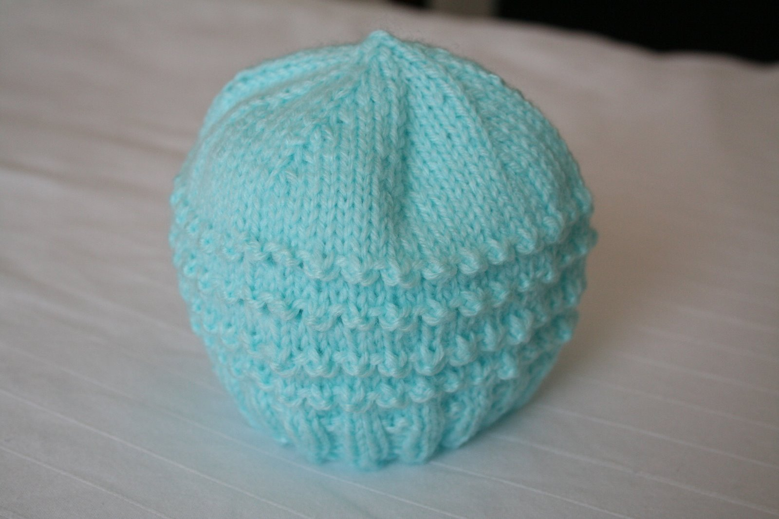 Knit Preemie Hat Pattern Instruction Photos