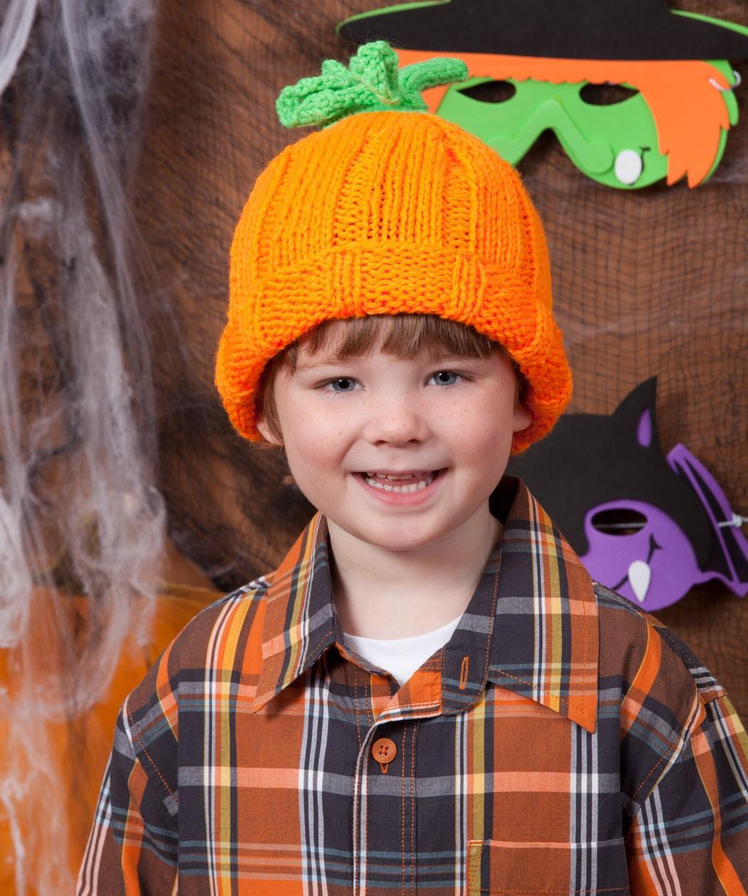 Knit Pumpkin Hat Pattern Instruction
