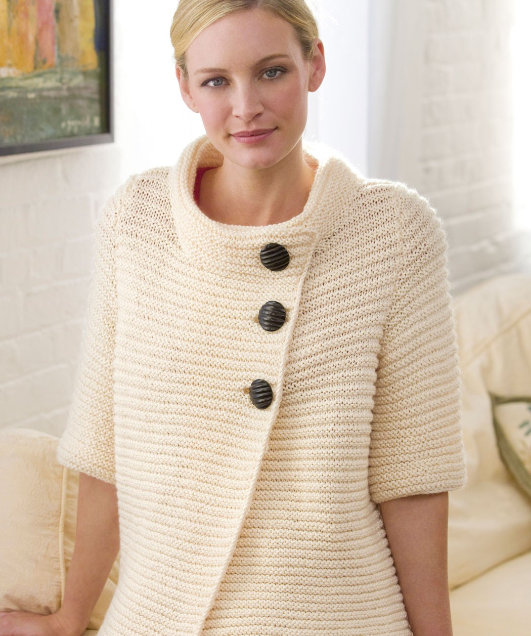 Knit Ribbed Cardigan Pattern For Women